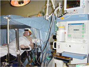 Craniotomie patiënt onder lokale anesthesie en sedatie
